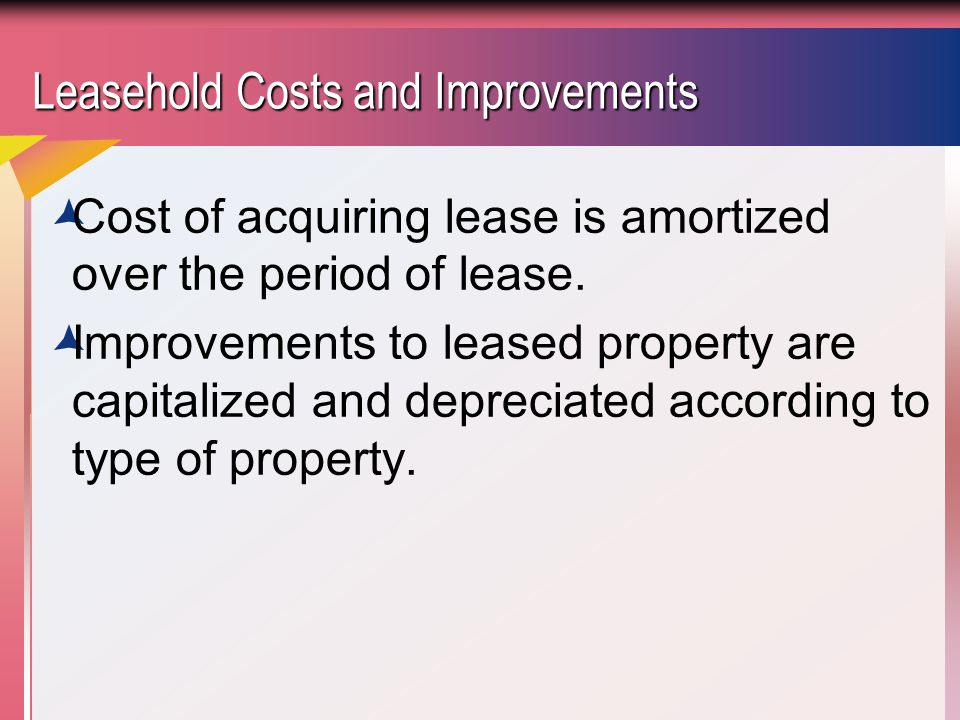 lease and leasehold improvements Instead of terminating the lease agreement the remaining balance of the leasehold improvement at the original location were $750,000.