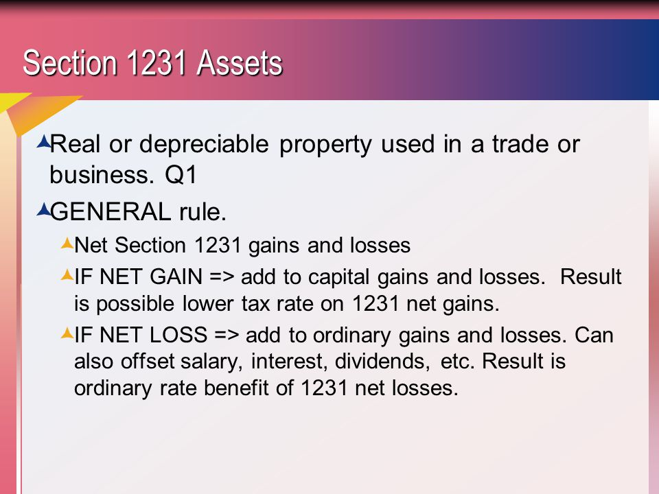 Property Tax Offset Capital Gains