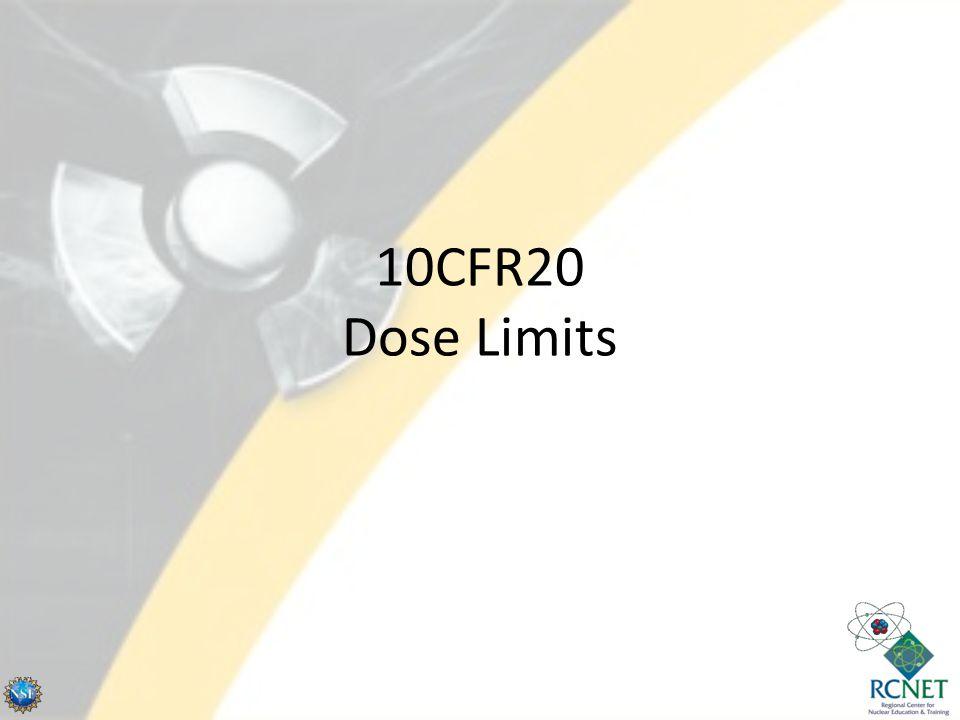 10CFR20 Dose Limits