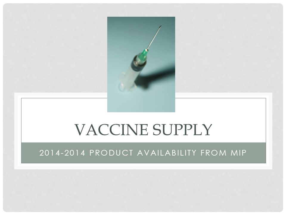 2014-2014 Product Availability from MIP