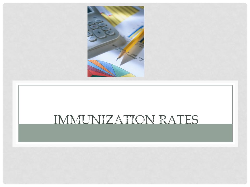 Make your shot count Immunization Rates
