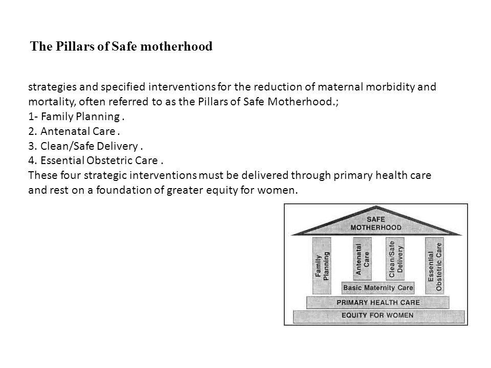 The Pillars of Safe motherhood