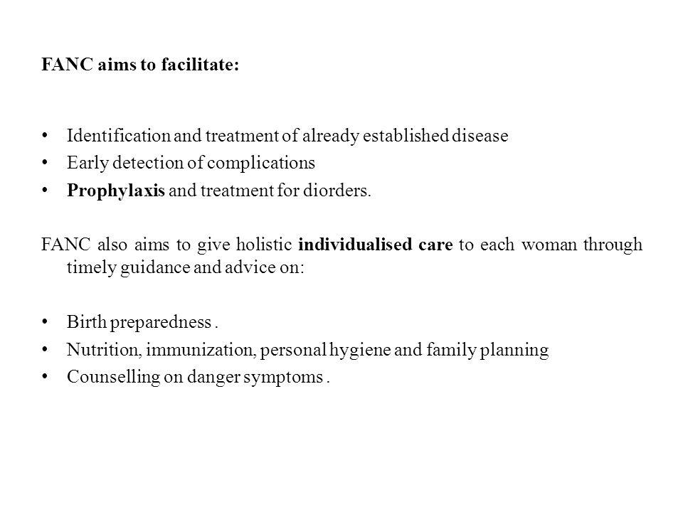 FANC aims to facilitate: