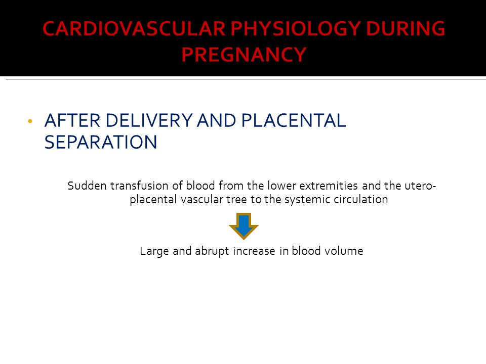Large and abrupt increase in blood volume