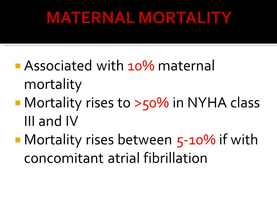 Associated with 10% maternal mortality