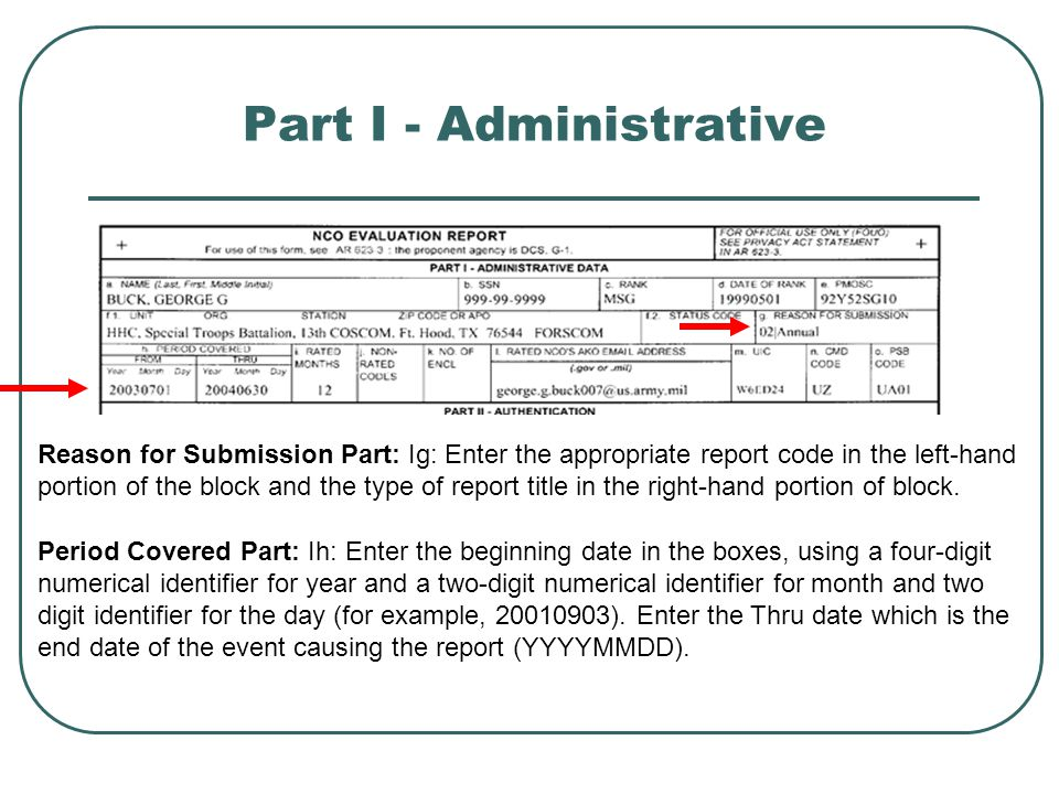 Part I - Administrative