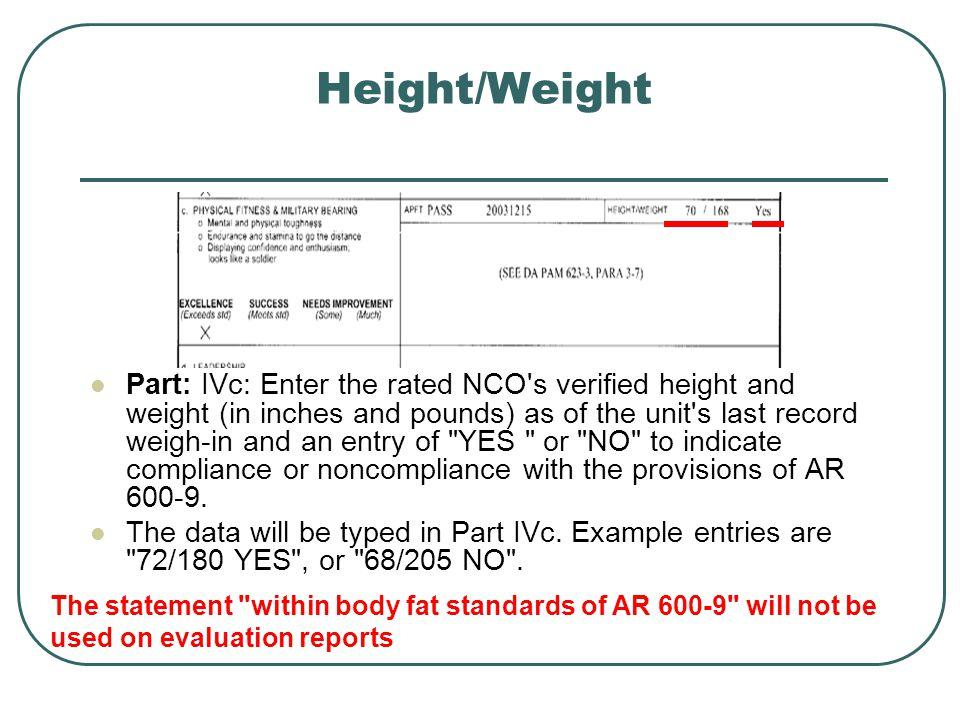 Height/Weight