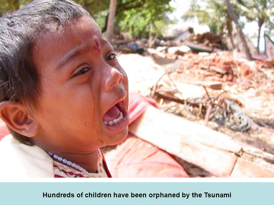 Hundreds of children have been orphaned by the Tsunami