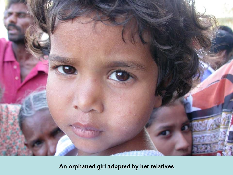 An orphaned girl adopted by her relatives
