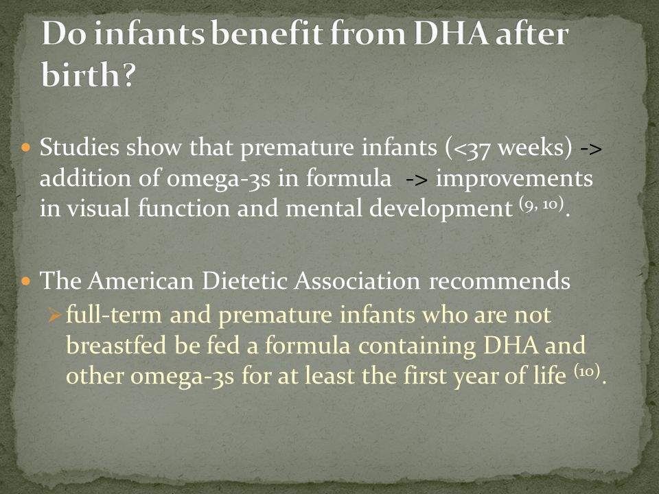Do infants benefit from DHA after birth