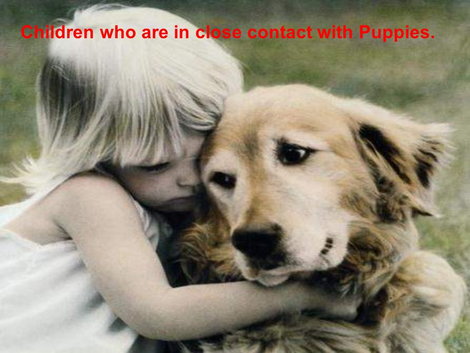 Children who are in close contact with Puppies.