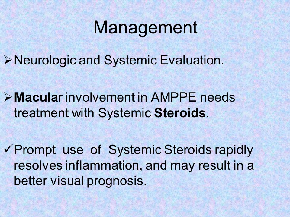 Management Neurologic and Systemic Evaluation.