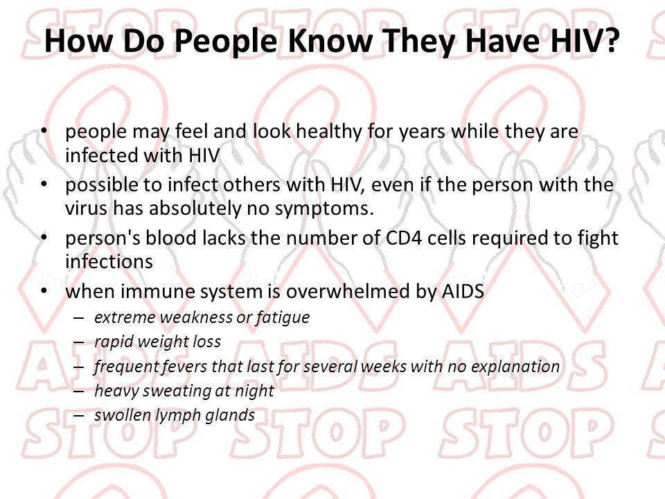 How Do People Know They Have HIV