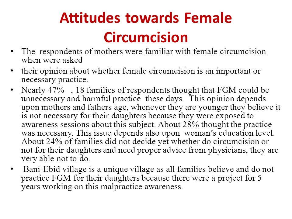 Attitudes towards Female Circumcision