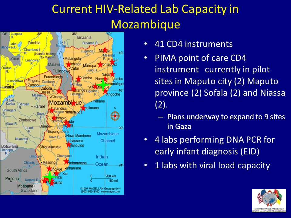 Current HIV-Related Lab Capacity in Mozambique