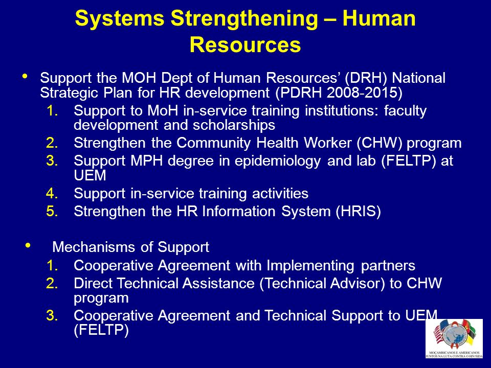 Systems Strengthening – Human Resources