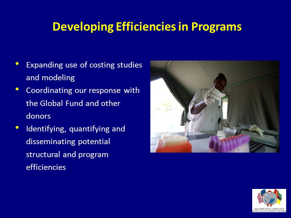 Developing Efficiencies in Programs