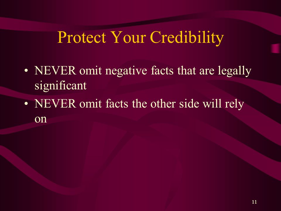Protect Your Credibility