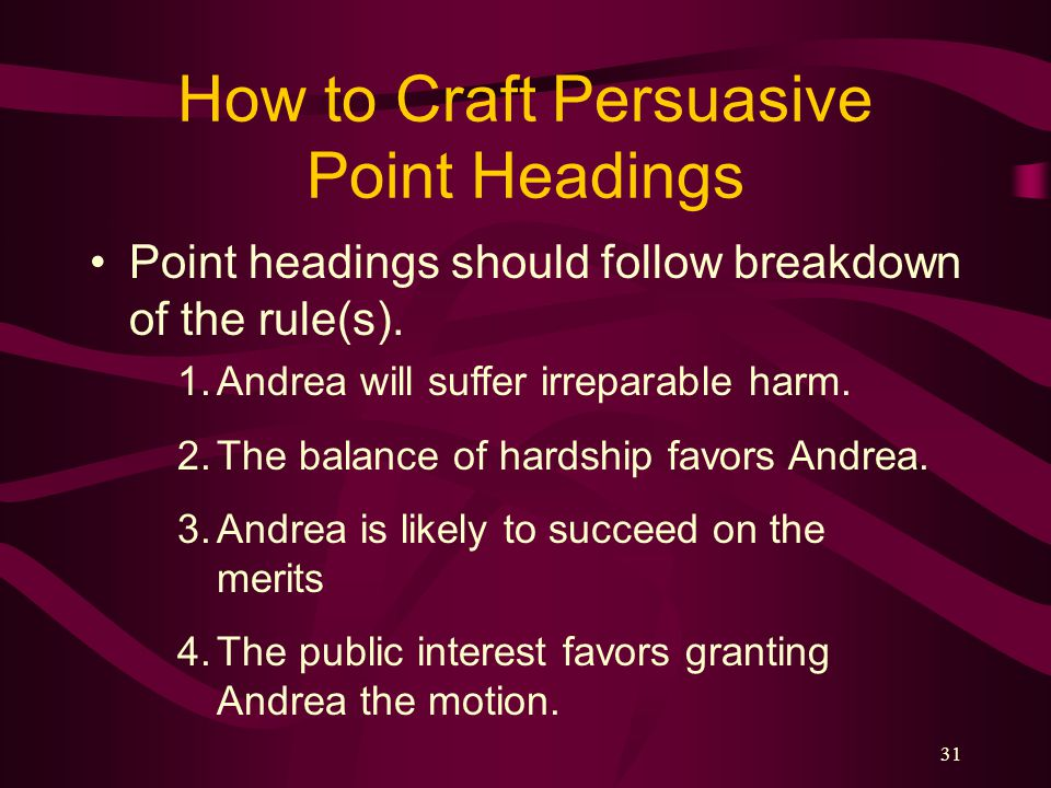 How to Craft Persuasive Point Headings