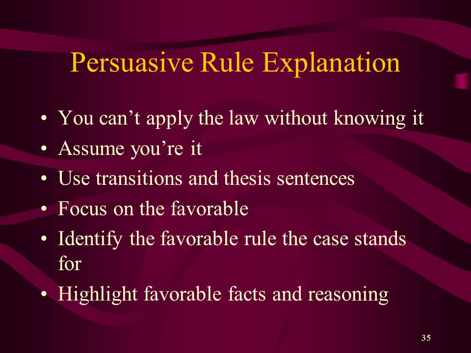 Persuasive Rule Explanation