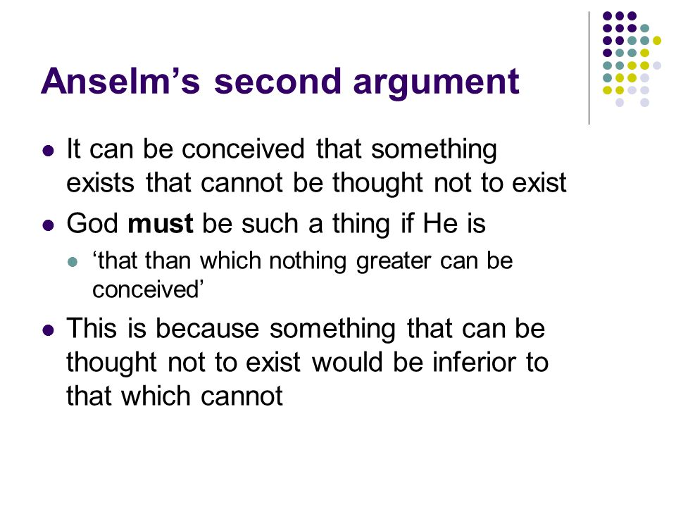 Anselm's second argument