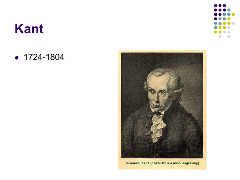 Kant 1724-1804