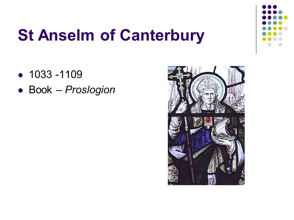 St Anselm of Canterbury