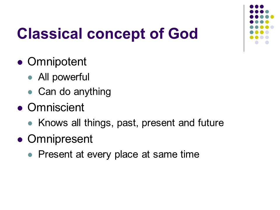 Classical concept of God