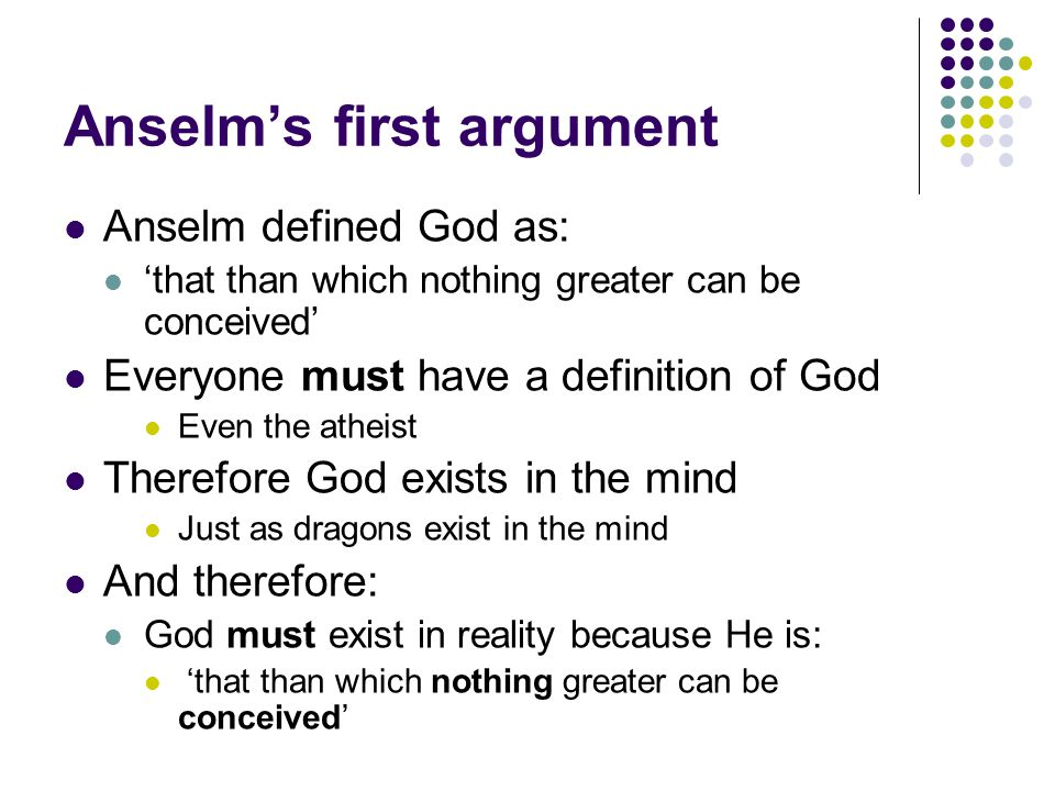 Anselm's first argument
