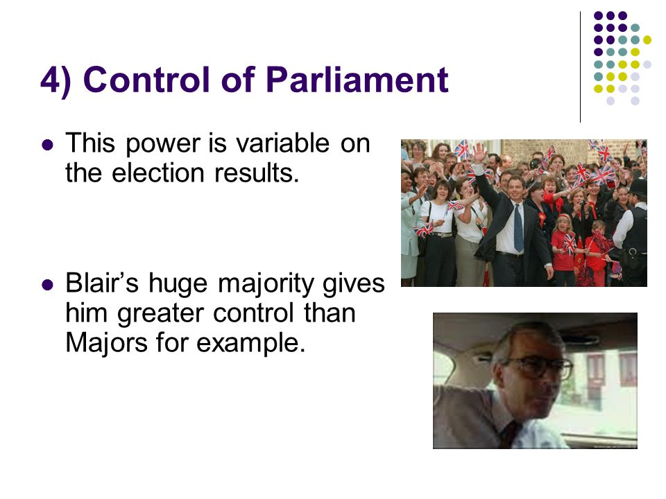 4) Control of Parliament