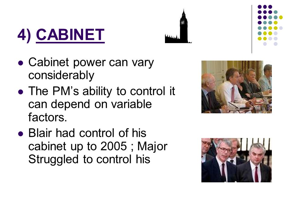 4) CABINET Cabinet power can vary considerably