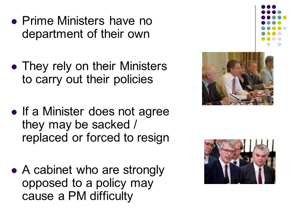 Prime Ministers have no department of their own