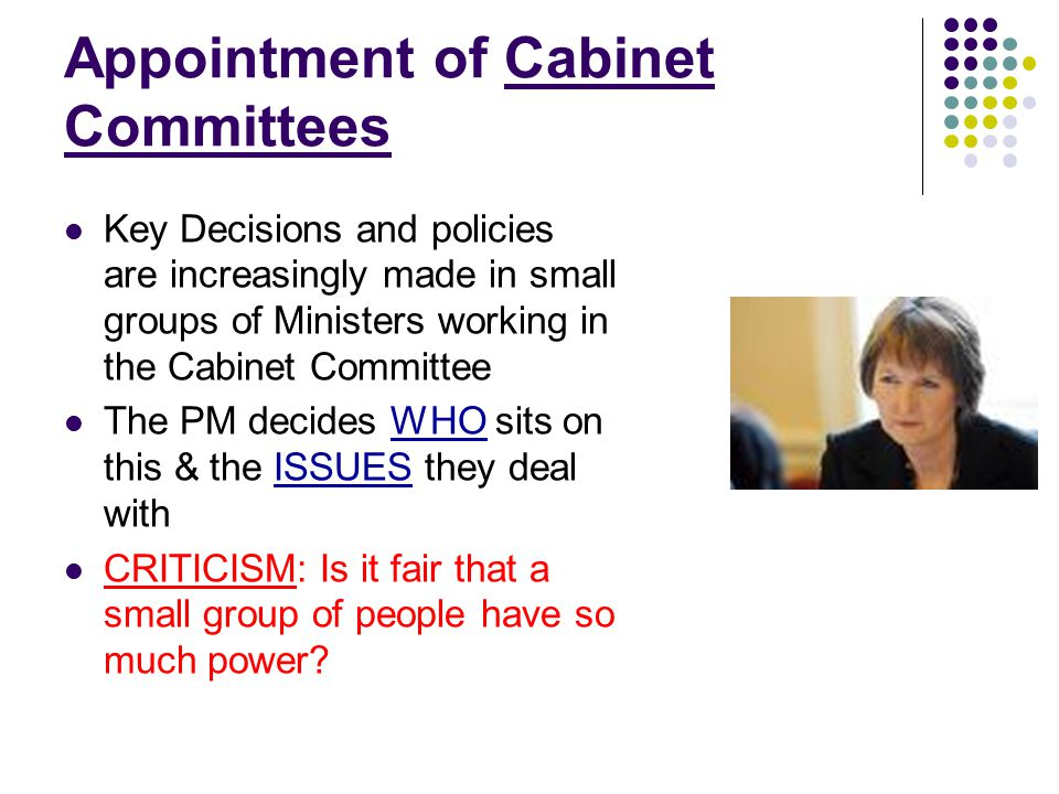 Appointment of Cabinet Committees