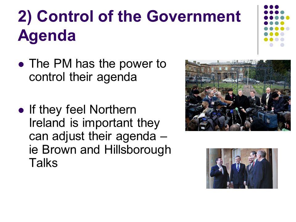 2) Control of the Government Agenda