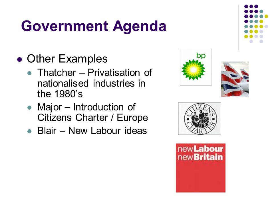 Government Agenda Other Examples