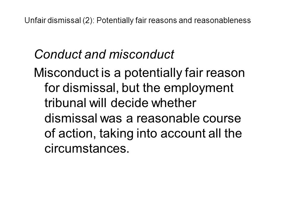 Conduct and misconduct
