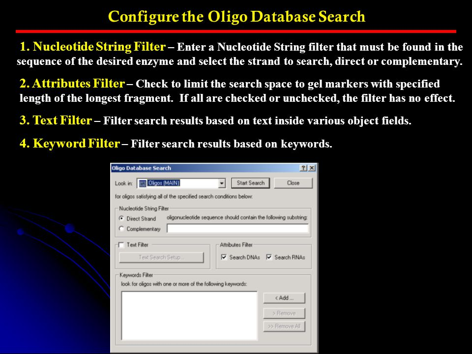 Configure the Oligo Database Search