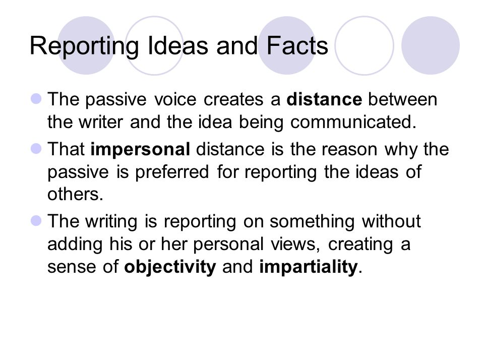 Reporting Ideas and Facts