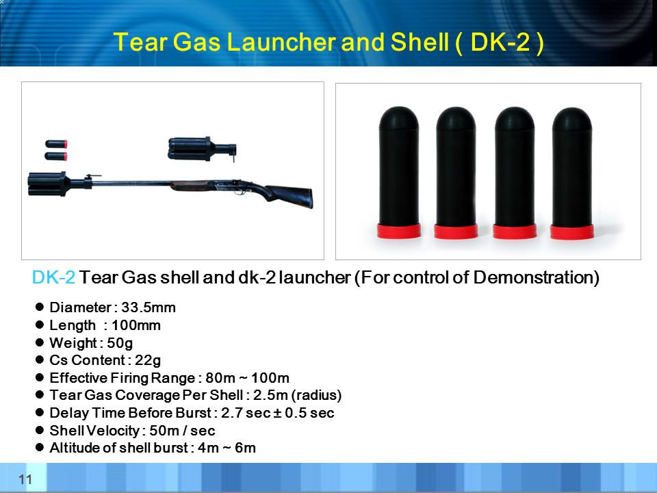 Tear Gas Launcher and Shell ( DK-2 )