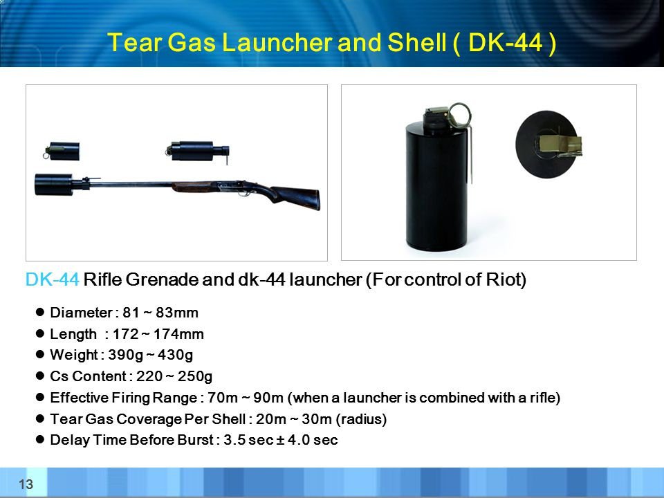 Tear Gas Launcher and Shell ( DK-44 )
