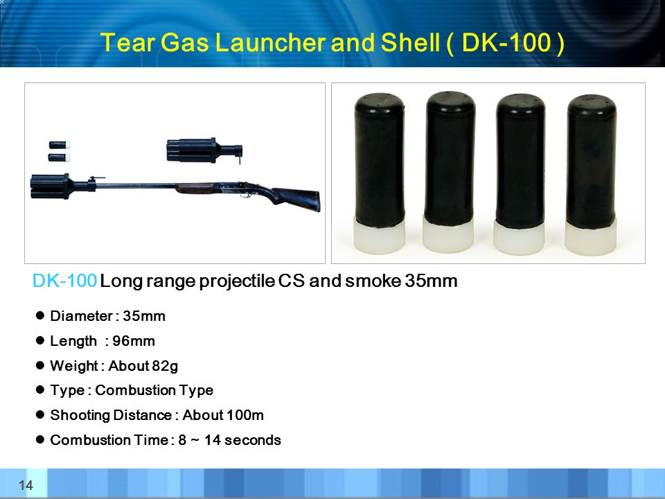Tear Gas Launcher and Shell ( DK-100 )