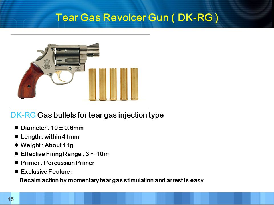 Tear Gas Revolcer Gun ( DK-RG )