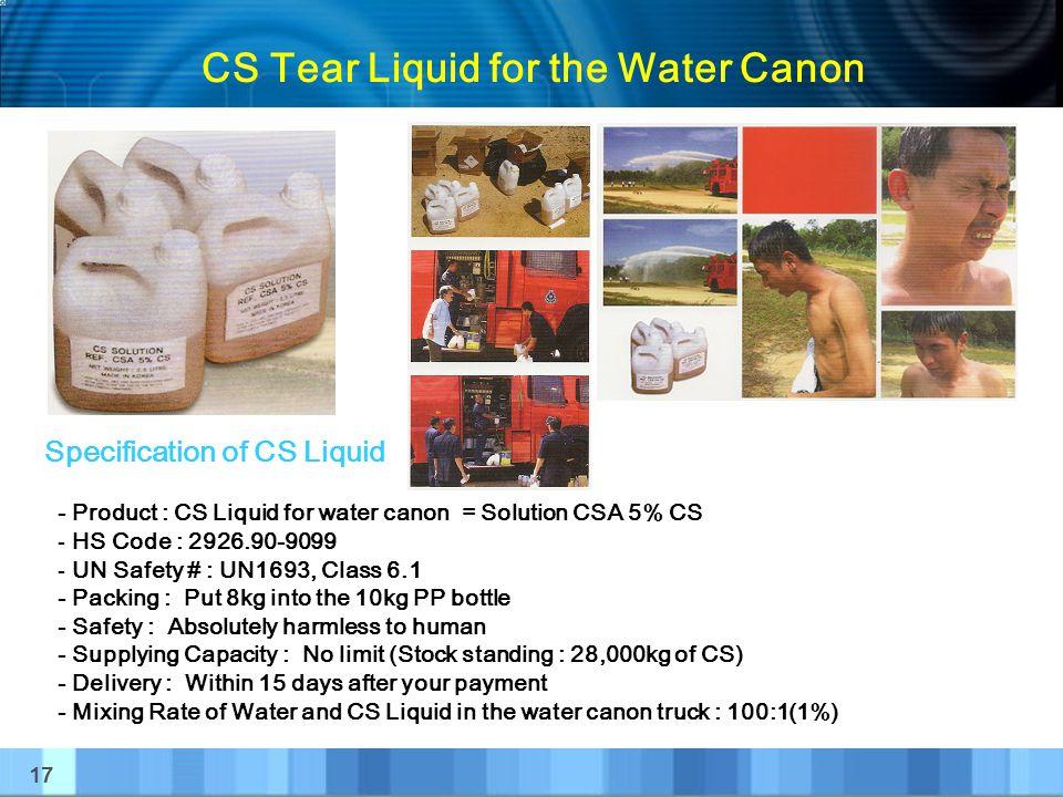 CS Tear Liquid for the Water Canon