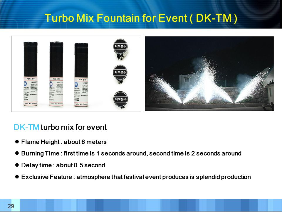 Turbo Mix Fountain for Event ( DK-TM )