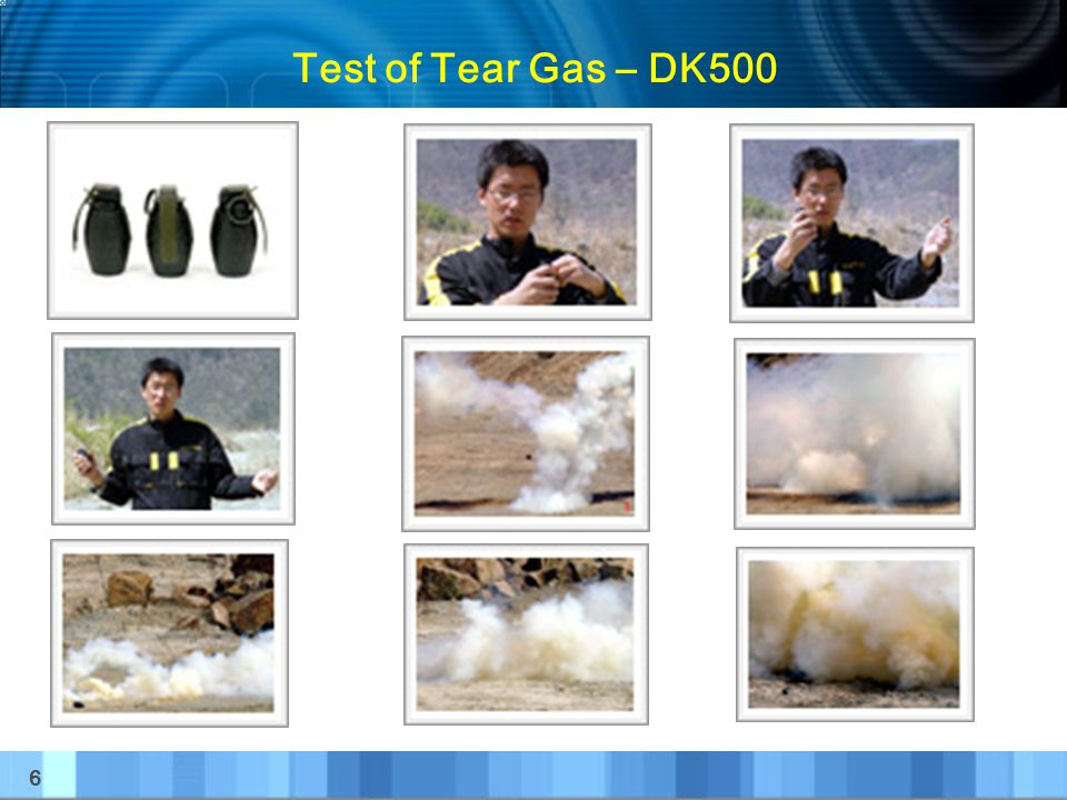 Test of Tear Gas – DK500 6