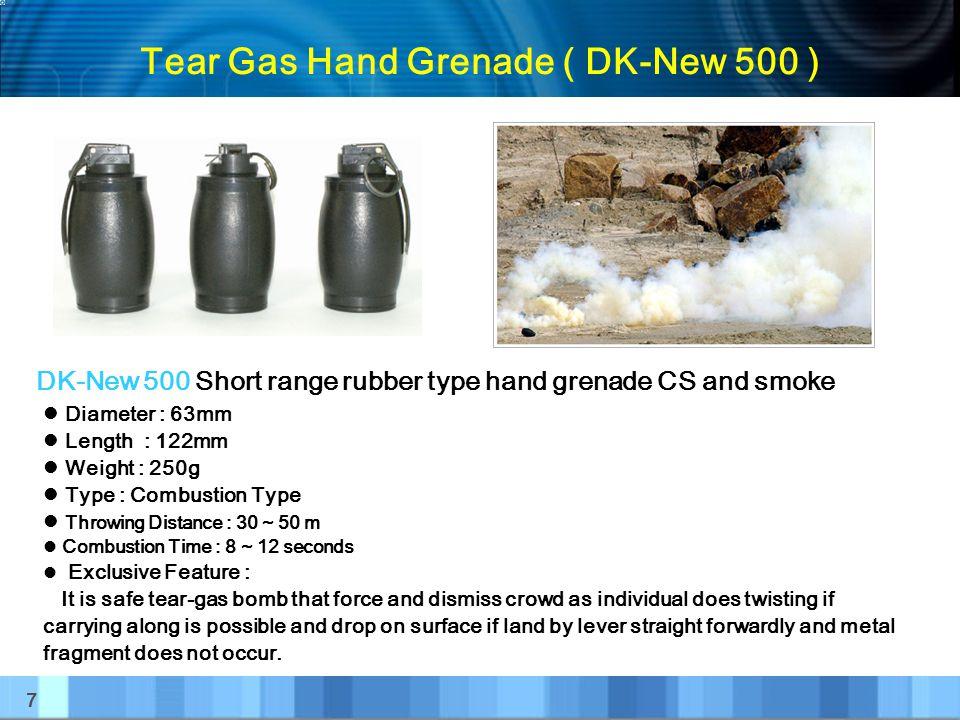 Tear Gas Hand Grenade ( DK-New 500 )