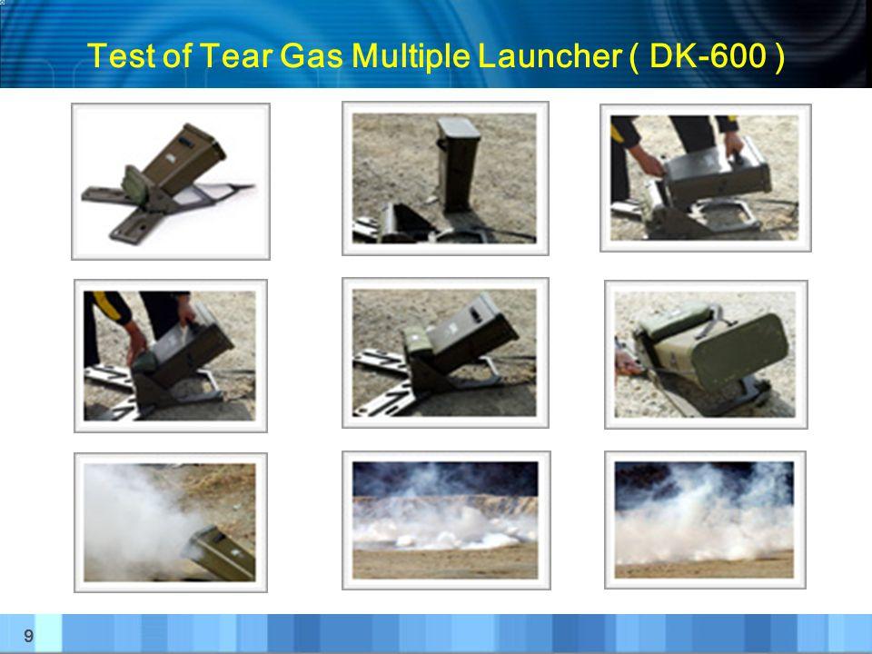 Test of Tear Gas Multiple Launcher ( DK-600 )
