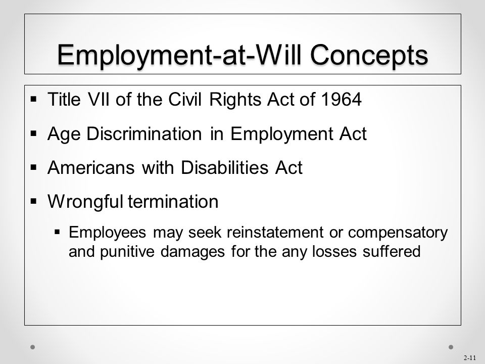 Employment-at-Will Concepts