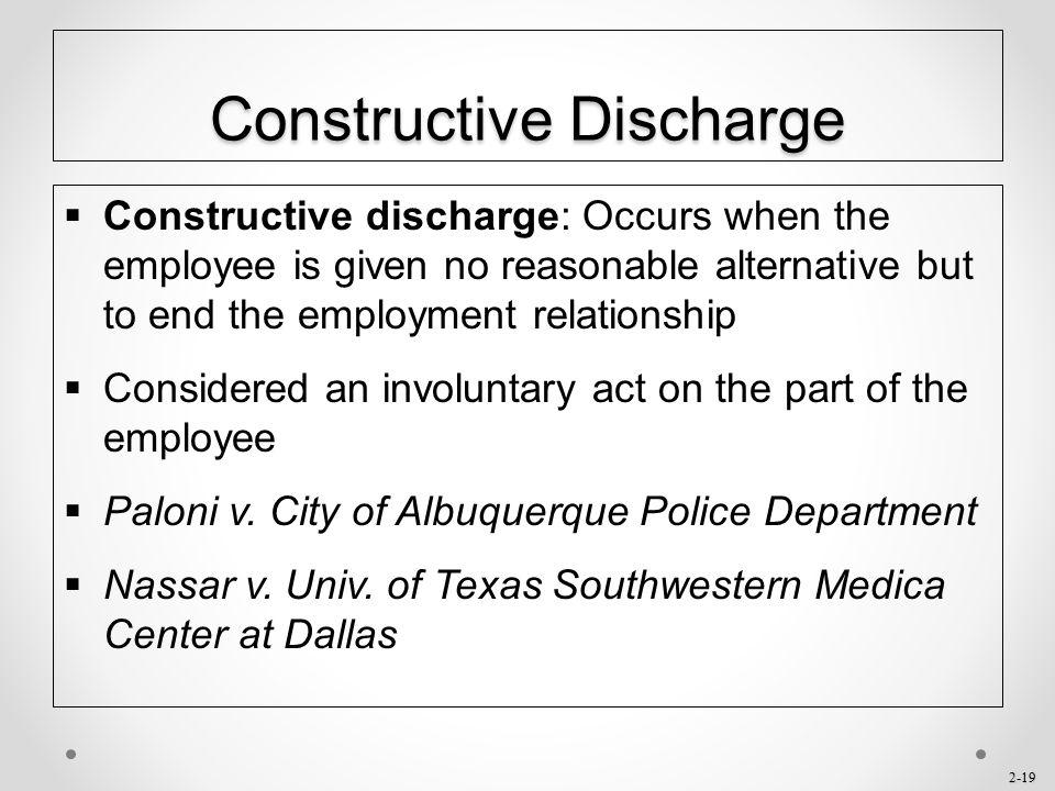 Constructive Discharge