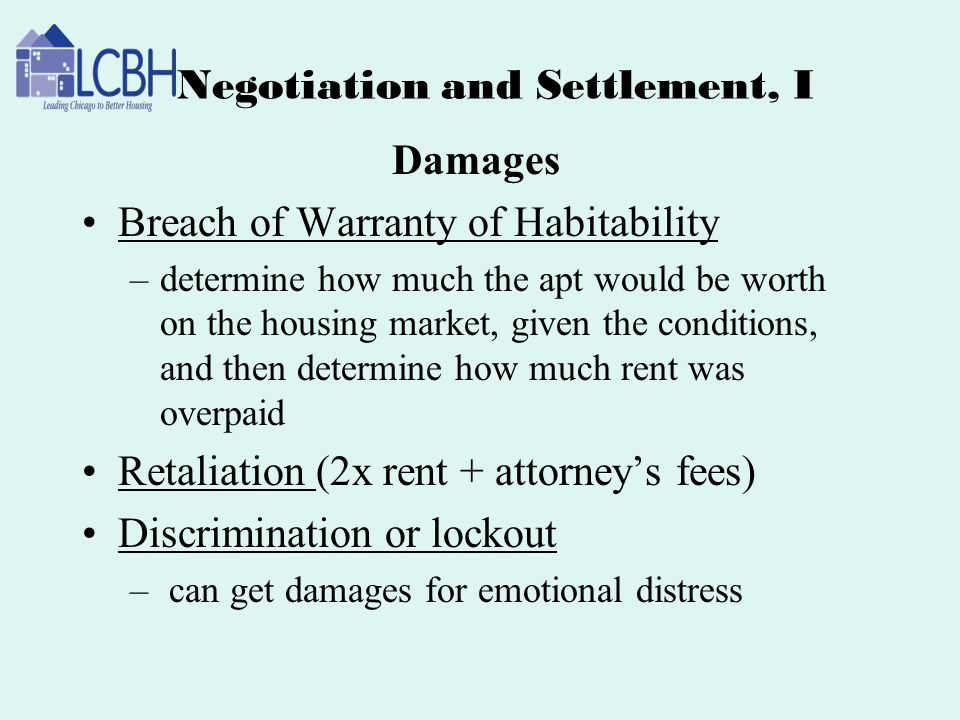 Negotiation and Settlement, I